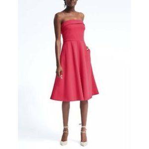 BANANA REPUBLIC Ponte Strapless Fit Flare Dress 4